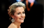 US actress Gillian Anderson poses on the