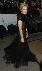Gillian Anderson arrives at the Harper's Bazaar Women of the Year awards at Claridge's Hotel in London