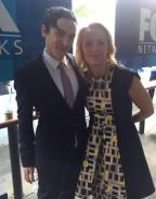 With Robin Lord Taylor