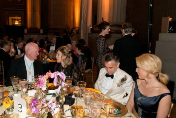 """The annual Freer/Sackler Gala themed ""Birds of a Feather"" begins with a small reception and a preview of artist Darren Waterson's Peacock Room remix, Filthy Lucre"" in Washington, DC on Friday, May 15, 2015. The reception was followed by dinner in the Mellon Auditorium and the ""Flock Together"" after party featuring the musical group Betty. Dame Jillian Sackler, Gillian Anderson, and Max Berry chaired the event. (James R. Brantley)"""