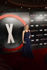 """LOS ANGELES, CA - JANUARY 12: (EDITORS NOTE: This image was created using digital filters) Gillian Anderson attends """"The X-Files"""" Fox premiere at California Science Center on January 12, 2016 in Los Angeles, California. (Photo by Araya Diaz/Getty Images)"""