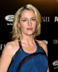 """LOS ANGELES, CA - JANUARY 12: Actress Gillian Anderson arrives at the premiere of Fox's """"The X-Files"""" at the California Science Center on January 16, 2106 in Los Angeles, California. (Photo by Kevin Winter/Getty Images)"""