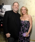 "WEST HOLLYWOOD, CA - JANUARY 11: Producer Harvey Weinstein (L) and actress Gillian Anderson attend The Weinstein Company And A+E Networks ""War And Peace"" Screening at The London West Hollywood on January 11, 2016 in West Hollywood, California. (Photo by Michael Kovac/Getty Images for A+E Networks)"