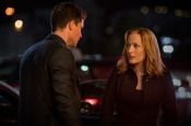 """THE X-FILES: L-R: Guest star Robbie Amell and Gillian Anderson in the """"My Struggle II"""" season finale episode of THE X-FILES airing Monday, Feb. 22 (8:00-9:01 PM ET/PT) on FOX. ©2016 Fox Broadcasting Co. Cr: Ed Araquel/FOX"""