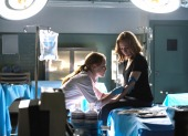 """THE X-FILES: L-R: Guest star Lauren Ambrose and Gillian Anderson in the """"My Struggle II"""" season finale episode of THE X-FILES airing Monday, Feb. 22 (8:00-9:01 PM ET/PT) on FOX. ©2016 Fox Broadcasting Co. Cr: Ed Araquel/FOX"""
