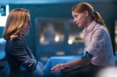 """THE X-FILES: Gillian Anderson and guest star Lauren Ambrose in the """"My Struggle II"""" season finale episode of THE X-FILES airing Monday, Feb. 22 (8:00-9:01 PM ET/PT) on FOX. ©2016 Fox Broadcasting Co. Cr: Ed Araquel/FOX"""